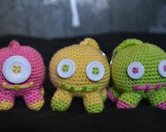 Crocheted Monster Keyring