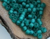 10g Toho Seeds Beads 11/0 Transparent Matte Frosted Teal Green Blue TR-11-7BDF Rocailles size 11
