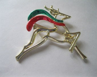 Reindeer Brooch, Christmas pin, Avant Gard Brooch, Moderist Deer Brooch, holiday pin Christmas brooch