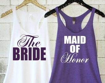 Maid of Honor Tank. Bridesmaid Tank. Bridal Party Tank. Maid of Honor Tank. Bridal Party Shirt. Maid of Honor Shirt. Bachelorette Party Tank