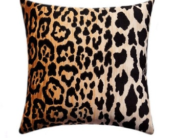 Velvet Leopard Zipper Pillow Cover, Braemore Jamil Cushion Cover, Velvet Animal Pillow Cover, Cheetah Throw Pillow - 17 SIZES