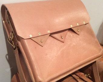 Custom leather satchel/messenger bag