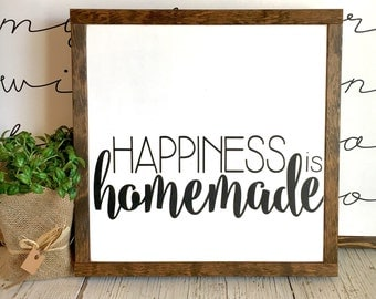 Happiness is Homemade | Kitchen Sign | 13x13
