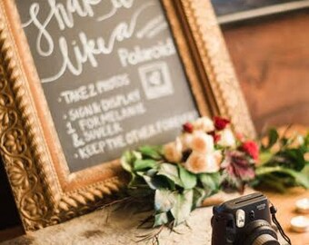 Guestbooks, Instagram, and Hashtags | A Chalkboard