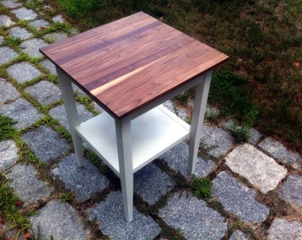 Walnut End Table / Side Table