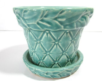 Mc Coy Planter Flower Pot  Green