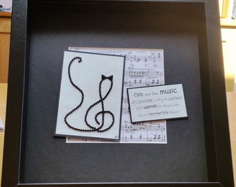Bead Treble Clef Cat...Cats are like music...