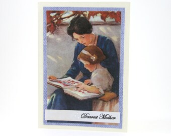 Mothers Day Card - Happy Mother's Day Card - Vintage Mothers Day - Mom and Daughter