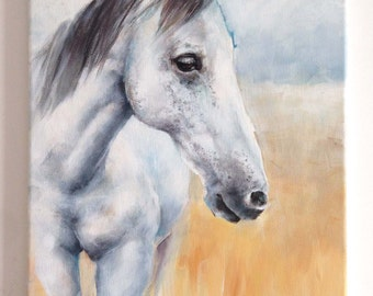 Nirvana, the painting of a beautiful horse