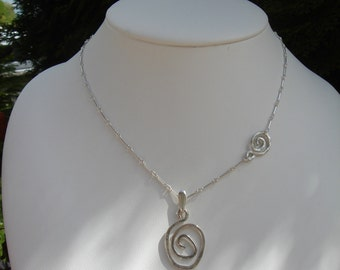 Necklace sterling silver with spiral, ethno and trendy