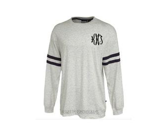 Monogram Vintage Jersey, Monogram Shirt, Long sleeve, Personalized T-shirt, Monogram Gift, Monogram Long Sleeve, Monogram Shirt