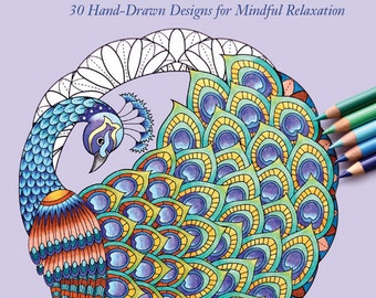 Adult Coloring Book - Coloring Bird Mandalas - Signed Copy w/ Bonus PDF