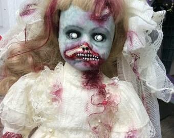 Zombie, horror doll, Bride, walking dead