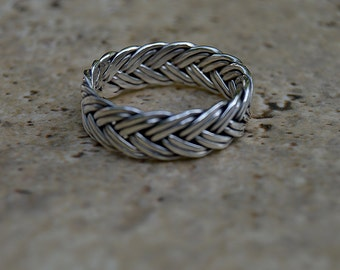 Viking rings, Braided rings,men gifts,Celtic eternity ring,Popular Asgard ring,Celtic braided knot ring.