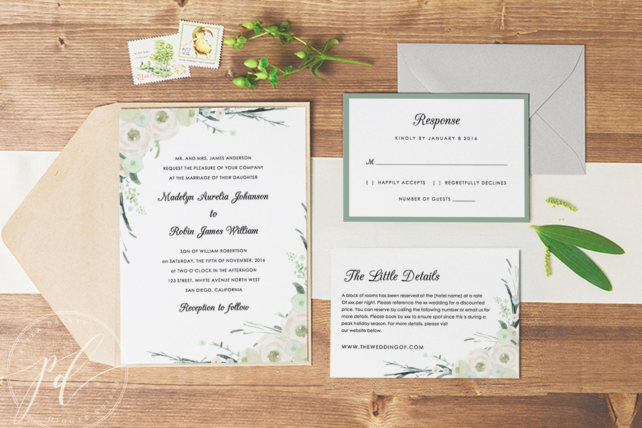 Wedding Invitation Free Download Software: Wedding Invitation Template Printable Editable Text Colour