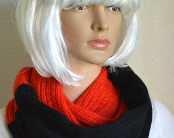 Handmade women's snood scarf