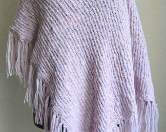 Hand knitted women's poncho