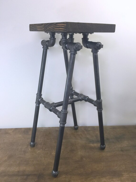 Bar Stool Industrial Stool Pipe Stool Man Cave By