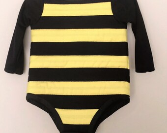 Toddler Bumble Bee Costume with Antennas, Bumble Bee Birthday Party Costume, sizes from  2T to 4T