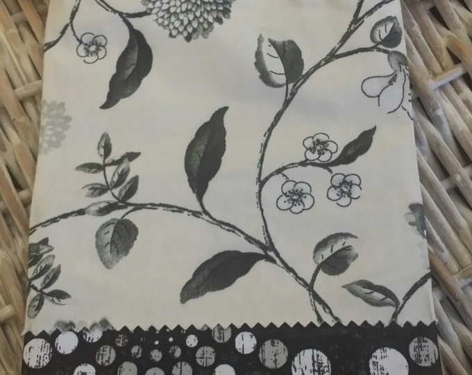 Sew Cute Bag-(Floral Cream Black n' Brown)