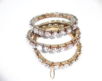 Rhinestone Bracelets-Vintage