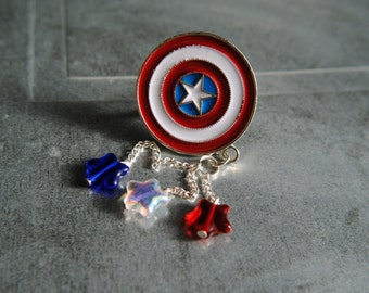 CAPTAIN AMERICA -- Charm Ring -- Age of Jewelry Collection -- The Avengers -- Age of Ultron -- Avengers Jewelry -- Fandom Fashion