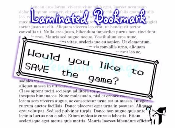 Pokemon Save Screen Bookmark