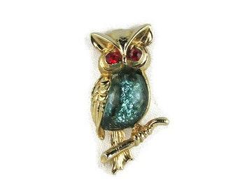 Vintage Jelly Belly Owl Brooch