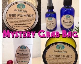 All Natural Apothecary Grab Bag - Receive 4 Surprise Apothecary Items - US Shipping Included - BEST Stocking Stuffers - Balms, Salves, Soap
