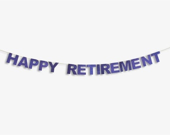 Happy Retirement Banner, Happy Retirement Garland