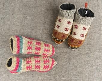 Woollen Socks Slippers Unique Handmade