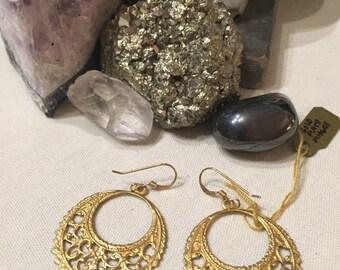 Gold Filigre Earrings