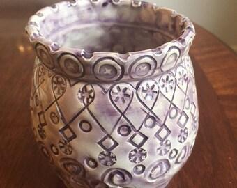 Purple Passion Handmade Ceramic Vase