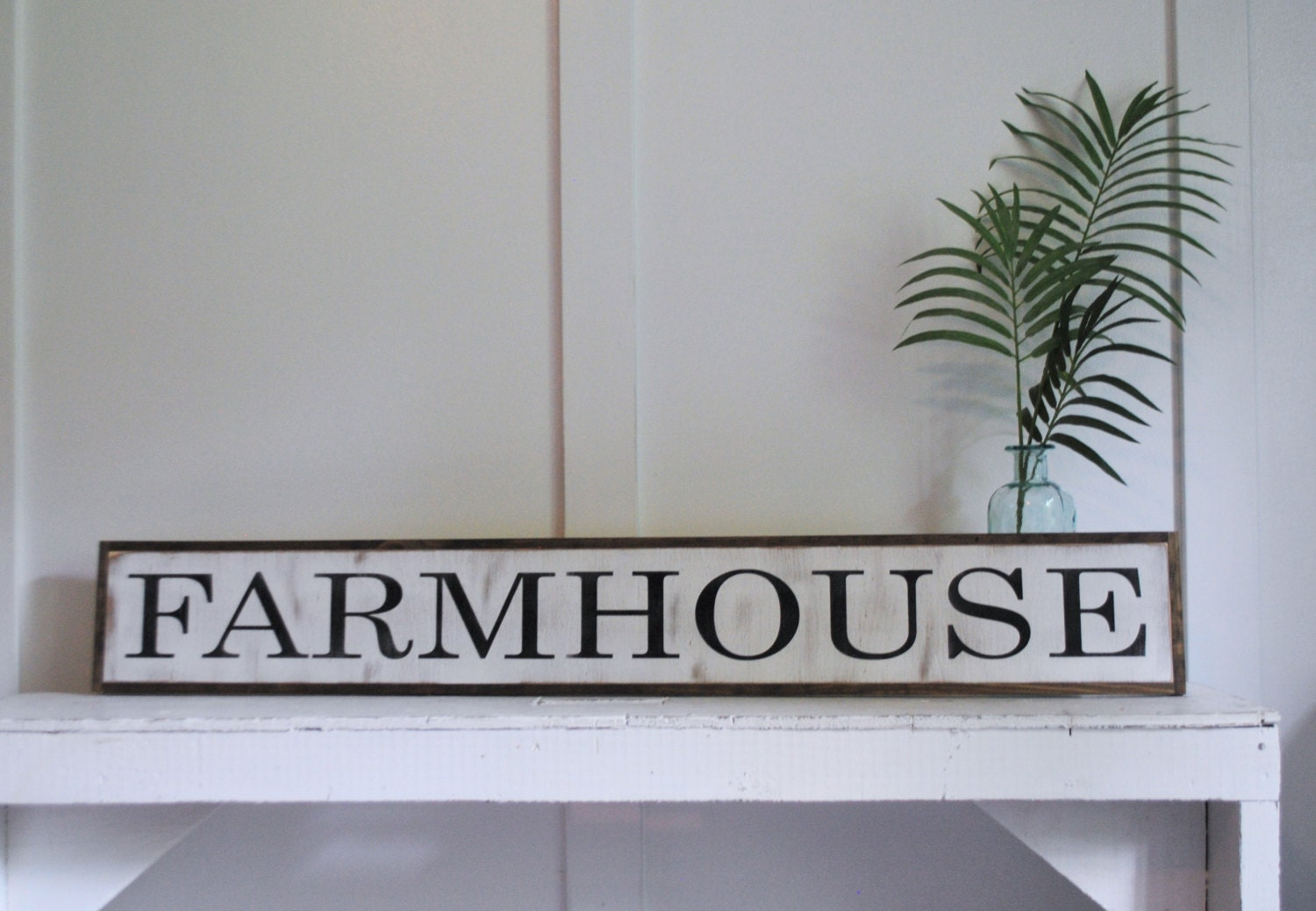 FARMHOUSE 7X48 sign distressed shabby chic wooden sign painted wall art