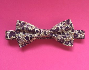Paisley floral bow tie