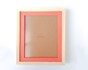 8 x 10 Picture Frame - Wood & Melon -  Stacked Frame