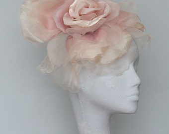 Pale Pink Fascinator Headpiece