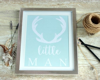 Baby boy shower decorations, Woodland nursery decor, Hunting wall decor, deer antlers wall art, unique baby shower centrepiece,Boy baby gift