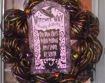 Witches Way Halloween Wreath