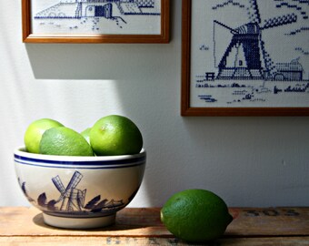 CLEARANCE SALE-Hand painted Windmill Bowl