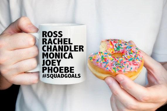 FRIENDS TV Show Mug | #SQUADGOALS  | Friends Fan Gift | Message Mugs | 11 oz.