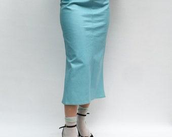 Blue leather skirt – Etsy UK