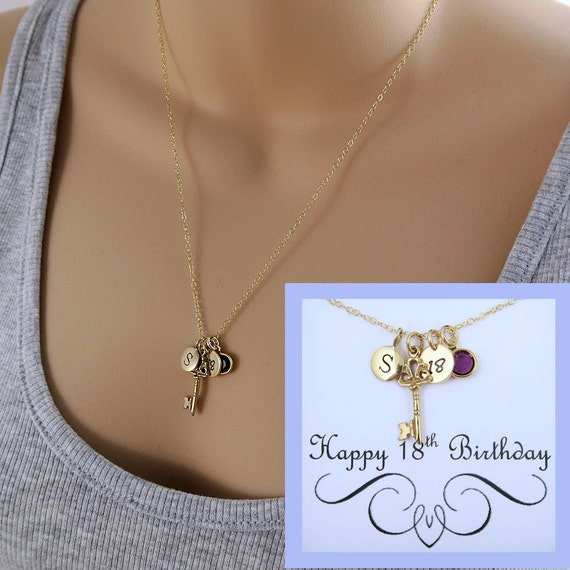 18th Birthday Necklace With Message Card Gift For 18th 18th