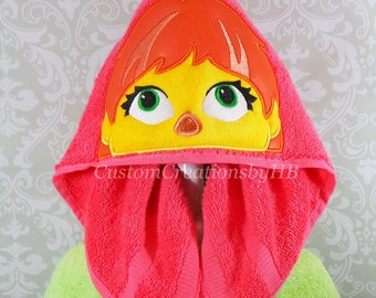 Julia, Sesame Street, Autism Awareness Character Inspired Hooded Towel on High Quality Belk Department Store Towels