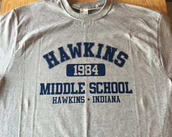 HAWKINS MIDDLE SCHOOL 1984 T-Shirt Adult sizes S-3Xl in many colors - inspired by the Tv show Stranger Things