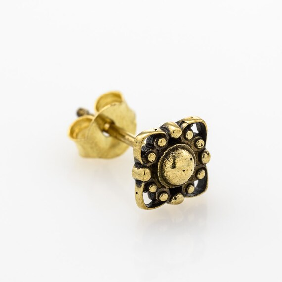 Tribal Flower Mandala stud earrings.
