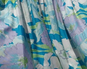 """Retro Drapes - Curtains - TWO PAIR Availabble - Flower Power - Hipster - 38""""Lx49""""W - Retro - 90""""Lx 50""""W - Pinch Pleat - Mid Century Modern"""