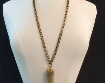 Bone Tusk Chain Necklace