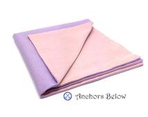Lavender Pocket Square, Pink Pocket Square, Pastel Pocket Square, Purple Pocket Square, Basic Cotton Pocket SquareDouble Sided Pocket Square
