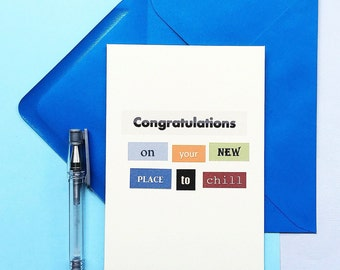 New House Card | New Home | Congratulations | Moving House | Housewarming | New Place | New Chill Place | Blank | SE0009A6